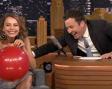 Jimmy Fallon Asks Sofia Vergara To Inhale Helium. Everyone's In Stitches When She Starts Talking