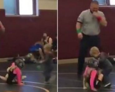 When The Girl That You Are Wresting Has A Tough Little Brother!