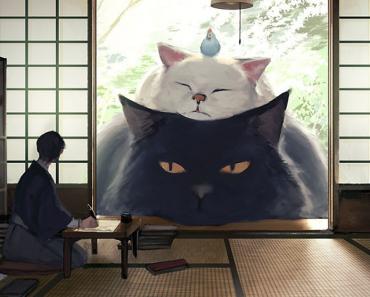 Japanese Illustrator Imagines A World Where Humans Live Among Giant Animals
