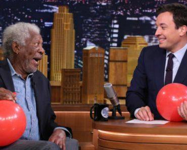 Morgan Freeman Chats with Jimmy Fallon While Sucking Helium