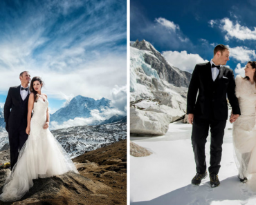 Wedding Photos Of The Couple Who Got Married On Mount Everest After Trekking For 3 Weeks