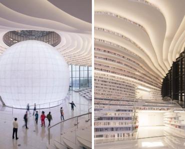 """The Eye of Binhai"": Beautiful Library With 1.2 Million Books"