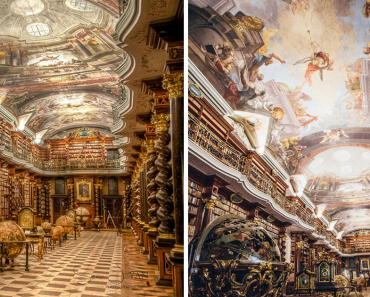 One Of The World's Most Beautiful Libraries Is In Prague, Czech Republic