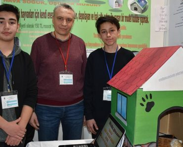 Two High School Students Invented A Solar-Heated Dog House To Protect Stray Dogs And Cats From The Cold